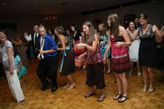 """Ways to add some """"FUN"""" to your wedding reception.  ---- if it involves this dance, it's not working."""
