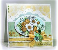 Flourishes Summer Blossoms stamp by Cindy Lawrence