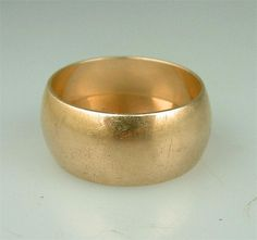 Fine Vintage 14k Rose Gold Russian Wide Band Wedding Ring Estate Jewelry