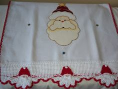 3mv Patch Crochê: Panos de prato para o Natal