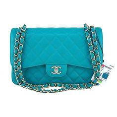 Pre-Owned Nwt 17c Chanel Turquoise Blue Caviar Jumbo 2.55 Classic... (4.326.625 CLP) ❤ liked on Polyvore featuring bags, blue, chanel, chain bag, chain strap bags, preowned bags and quilted chain bag