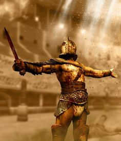 Historical Warriors – The Lost Treasure Chest Gladiator Tattoo, Ancient Rome, Ancient History, Gladiator Games, Gladiator Fights, Gods Of The Arena, Roman Gladiators, Empire Tattoo, Fantasy Warrior