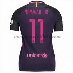 Draktsett Fotball Barcelona 2016-17 Neymar Jr 11 Dame Borte Fotballdrakter Kortermet