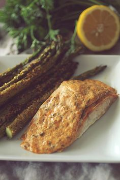 Dashing Dish Garlic Parmesan Salmon And Asparagus