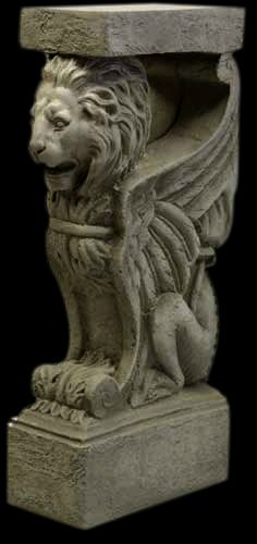 WINGED LION GRIFFIN ROMAN CONSOLE BASE TABLE PEDESTAL