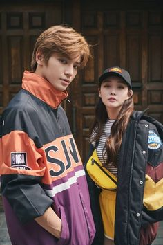 Athletic fashion brand 'NBA Korea's current endorsement models NCT 127 and Kim Chung Ha modeled this season's upcoming styles in 'Dazed' magazine! Nct 127, Kim Chanmi, Kim Chungha, Rapper, Dazed Magazine, K Pop, Nba Fashion, Kpop Couples, Entertainment