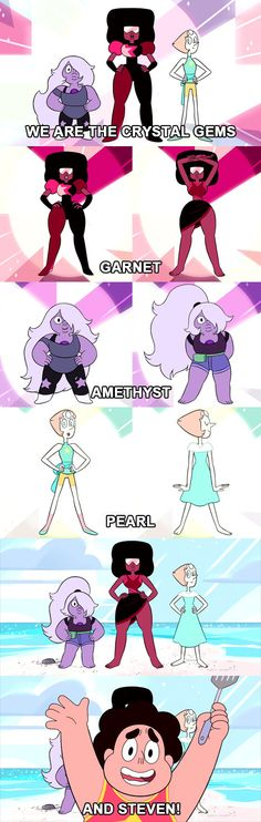I wonder why they don't change their outfits more often, I would think at least one of the gems would find that enjoyable to be able to wear whatever they want