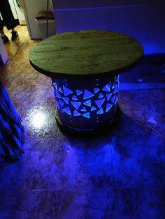 mesa marinera con luces led