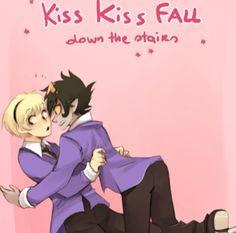 Kiss kiss fall down the stairs