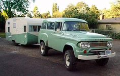 1962 Dodge Town Wagon with Camper