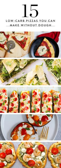 Craving pizza but trying to eat healthy? Here. 15 recipes to get flavors you crave without all of the carbs. Each of these pizzas can be made without dough.