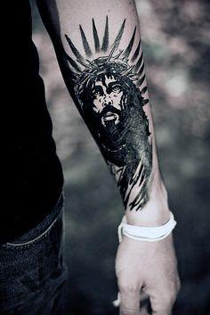 Jesus Forearm Tattoo Sleeve