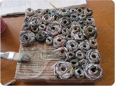 newspaper crafts!