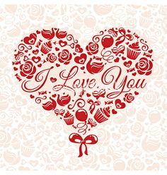 Valentines day card vector by tiax on VectorStock®