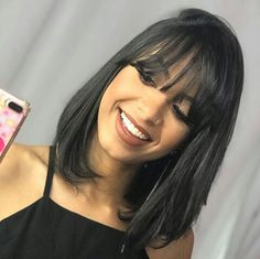 Pin on long bob haircuts with bangs Pin on long bob haircuts with bangs Long Bob Haircut With Bangs, Long Bob Haircuts, Haircuts With Bangs, Short Hair Cuts For Women With Bangs, Medium Bob With Bangs, Haircut Bob, Medium Hair Cuts, Medium Hair Styles, Curly Hair Styles