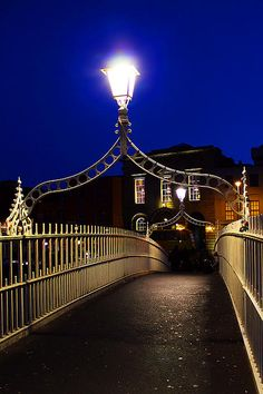 Ha'penny Bridge, Dublin, Ireland (should see ppl try to cross it when its solid ice...HILARIOUS)