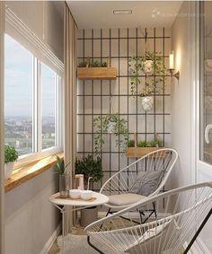 60 Small Apartment Balcony Garden Design Ideas - Favorite Place in the World - Balkon Apartment Garden, House Design, House, Balcony Decor, Home, Small Apartments, Century Hotel, Tiny Living, Home Deco