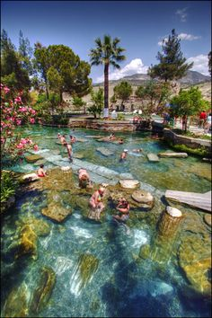 Cleopatra's All Natural Pool in Pamukkale, Turkey.