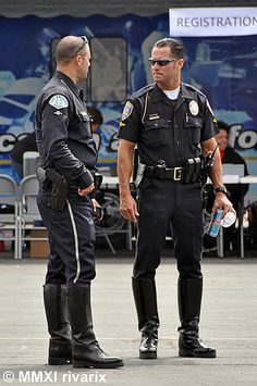 194 Pasadena Rodeo - LAPD   In between competition.   Flickr