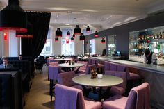 Blythswood Square Hotel, Glasgow. Interior design of 100 guestrooms, spa, rally bar, main bar & restaurant, meeting & event spaces, the salon & reception. Design of furniture throughout. Designed by Graven Images.  www.graven.co.uk