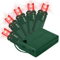 Wide Angle LED Battery Christmas Lights | Green Wire | 1000Bulbs.com