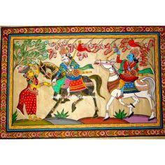 Patachitra on Tussar Silk - Oriya Painting