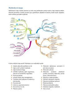 Myšlenkové mapy Time Management, Worksheets, Free Printables, Bullet Journal, Messages, Education, School, Literatura, Biology