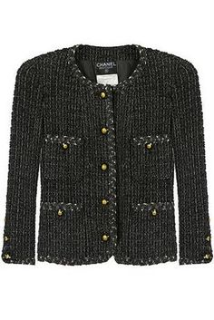 Chanel tweed jacket - my dream. Until then, I'll wear a lookalike.