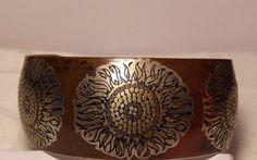 Vintage Damascene Cuff Bracelet/ Reed and by BETWIXEDandBETWEEN, $30.00/Renewal