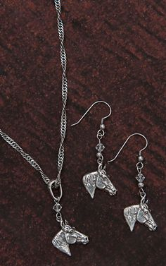 M&F Western Products® Silver Horse Head Jewelry Set 30240