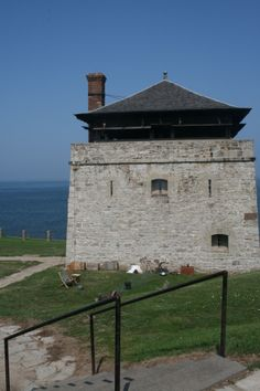 One of the towers in Old Fort Niagara guarding the mouth of the Niagara River into Lake Erie.