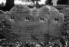 Grave of the Stoddard children, 1786, Winchenden, Mass., USA. Children of David…