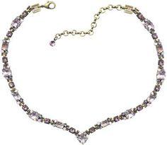 Halskette-V Hera pink