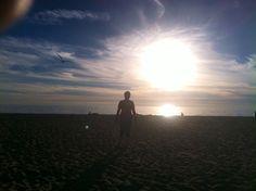Disfrutando una puesta de sol