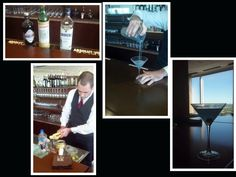 Mixologist and dining room manager Brent Bushong preparing the Aviation Cocktail from our new cocktail menu