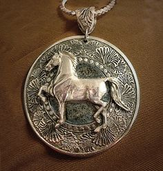 Morgan Horse Pendant by HorseLadyGifts on Etsy, $29.99