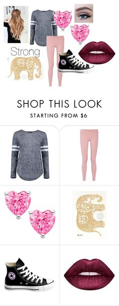 """Marie's Casual Clothes"" by lovelyloonylovegood on Polyvore featuring beauty, Boohoo, Live the Process, Converse and Lime Crime"