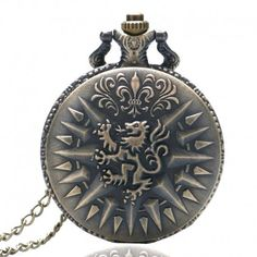 Bronze Retro Lion Pendant Pocket Chain Mens Womens Quartz Watch Xmas Gift in Jewelry & Watches, Watches, Parts & Accessories, Pocket Watches Quartz Pocket Watch, Quartz Watch, Dragon Chine, Game Of Thrones Necklace, Armani Watches For Men, Bronze Dragon, Watch Necklace, Necklace Chain, Pocket Watch Antique