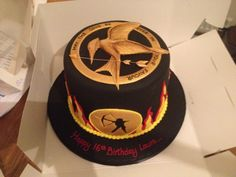 My 16th Birthday Cake :) The Hunger Games inspired