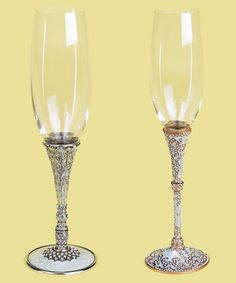 exquisite flutes with jeweled stems by Edgar Berebi