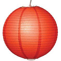 Orange lantern light (wonder if it's tangerine tango?)