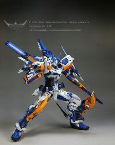 Custom Build: MG Gundam Astray Blue Frame Third - (Resin Conversion) Cool Robots, Cool Toys, Armadura Ninja, Gundam Astray, Gundam Mobile Suit, Man Of War, Gundam Seed, Gundam Wing, Custom Gundam