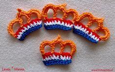 Broche met de nederlandse vlag - www.levenweven.nl