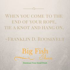 Tie a Knot and Hang On. – Big Fish Ideas Small Ponds, Big Fish, Knots, Tie, Ideas, We, Knot, Ties, Thoughts