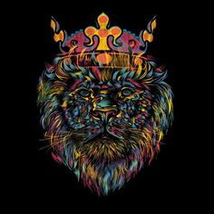Bright Like a Lion T-Shirt #lion #graphic #artistic #t-shirts