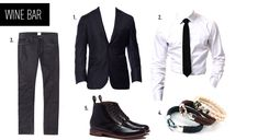 The perfect #ValentinesDay date outfit for a night out at a classy wine bar, via @Black Lapel Custom Clothiers