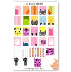 Free printable cat planner stickers - Agendasticker - freebie | MeinLilaPark