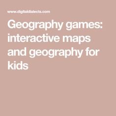 Geography games: interactive maps and geography for kids World Geography Quiz, Geography Games For Kids, Geography Classroom, Geography Lessons, Human Geography, Political Geography, Physical Geography, Interactive Learning, Interactive Map