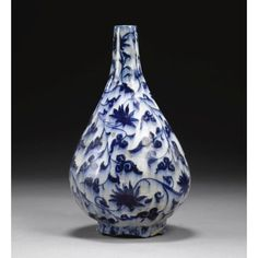 Blue and White Asian Pottery   Three Blue and White pottery, Mamluk or Timurid and Safavid, Chinese ...