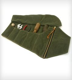 Waxed Canvas Tool Roll by Red Clouds Collective on Scoutmob Shoppe